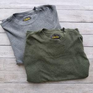 Cabela's bundle long sleeved thermal shirts
